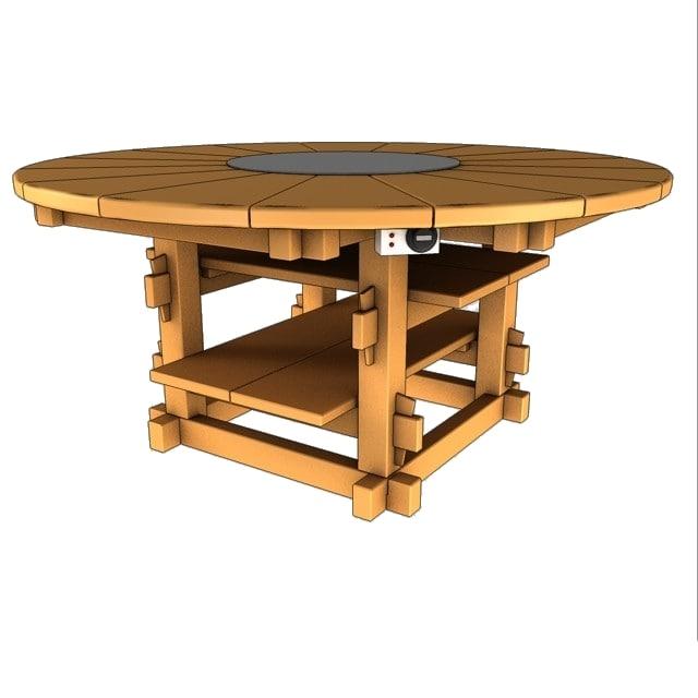 hotplate garden table 3d 3ds