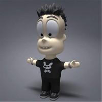 character punk guy 3d model