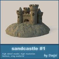 3ds max sand castle sandcastles