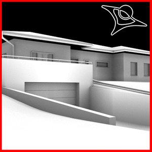 3ds house building garage