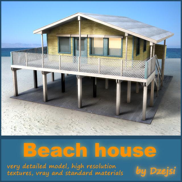 beach house 3d model