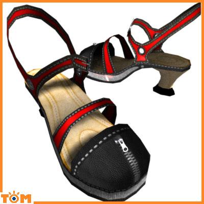 3d girls heels model