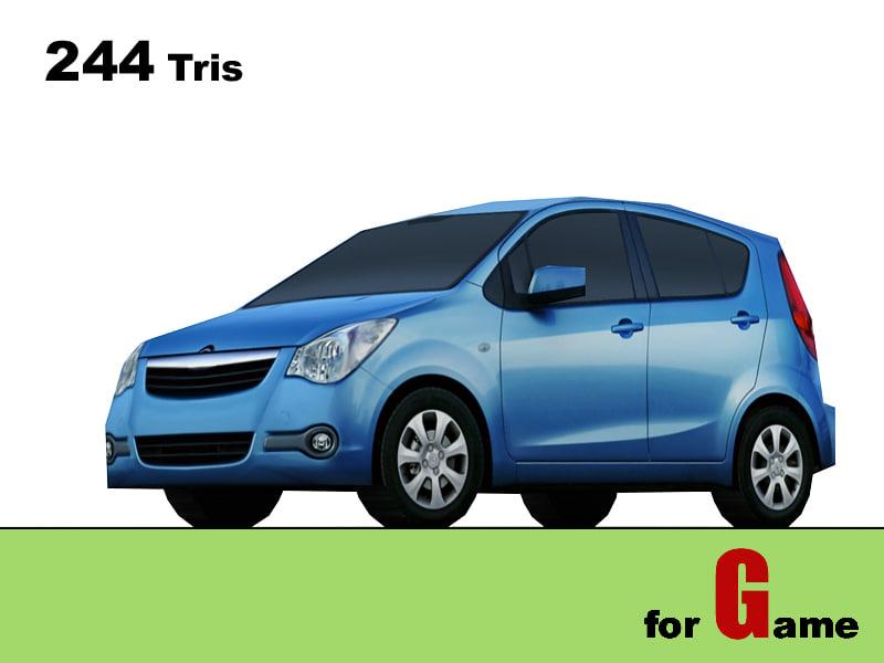 opel agila cars 3d model
