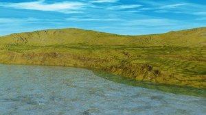 coastal landscape scenes 3d model