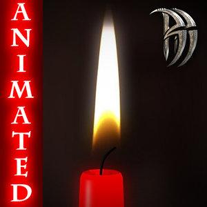qualitative candlestick candle 3ds