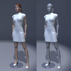 3ds max dummy dress sculpted