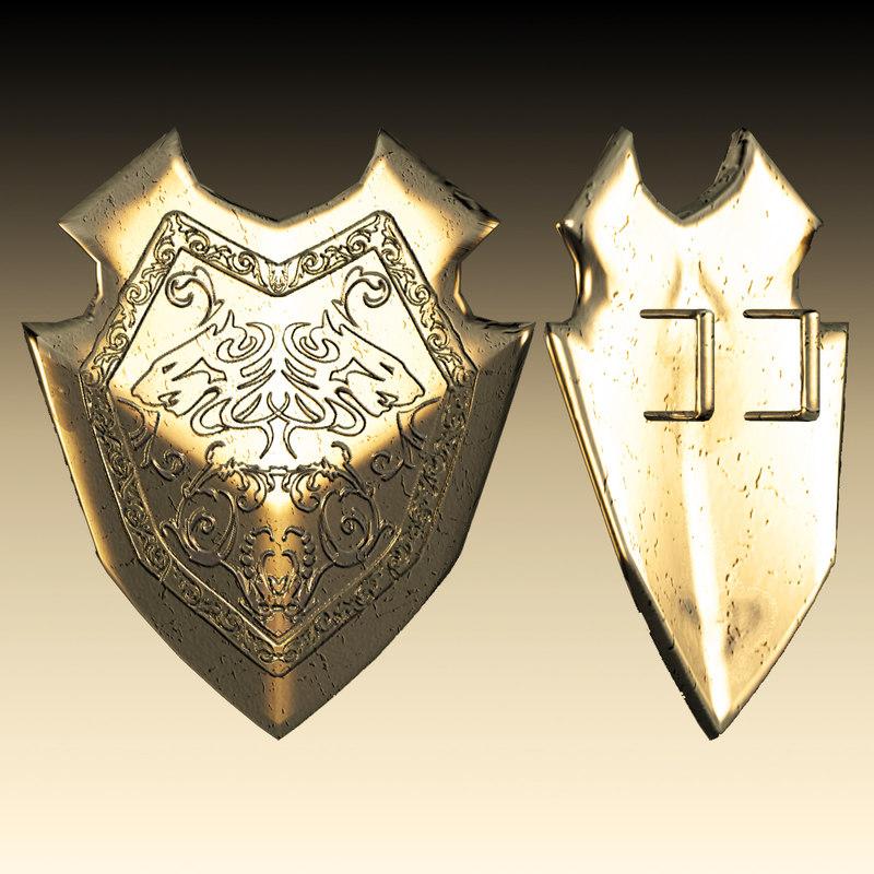 3d metal gladiator shield