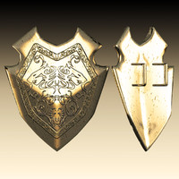 3d metal gladiator shield