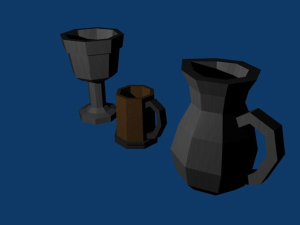 tableware gothic 3d 3ds