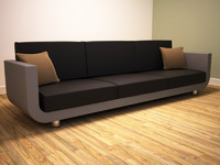 3d modern contemporary sofa