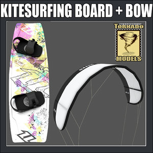kitesurfing board bow 3d 3ds