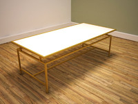 metal frame coffee table 3ds