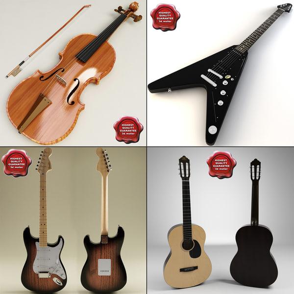 3ds music instruments acoustic guitar