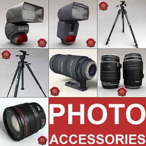 photo accessories 3d model