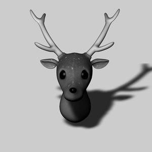 3d deer head model