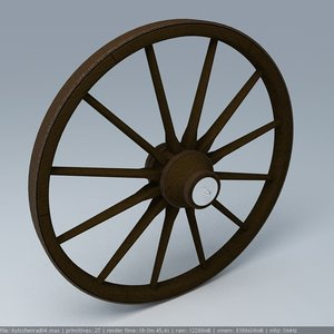 wooden wheel 3d max