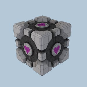 weighted companion cube 3d model