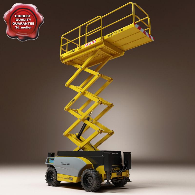 scissor lift haulotte compact 3d model