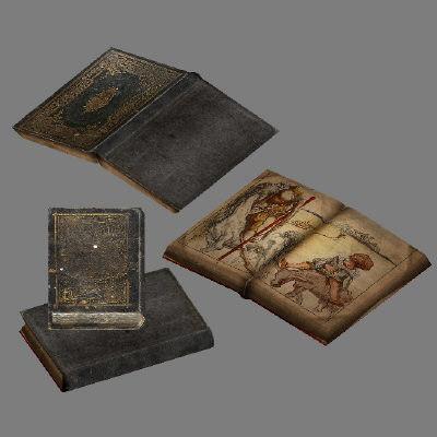 3d model books heap