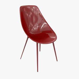 3d kartell lago chair philippe
