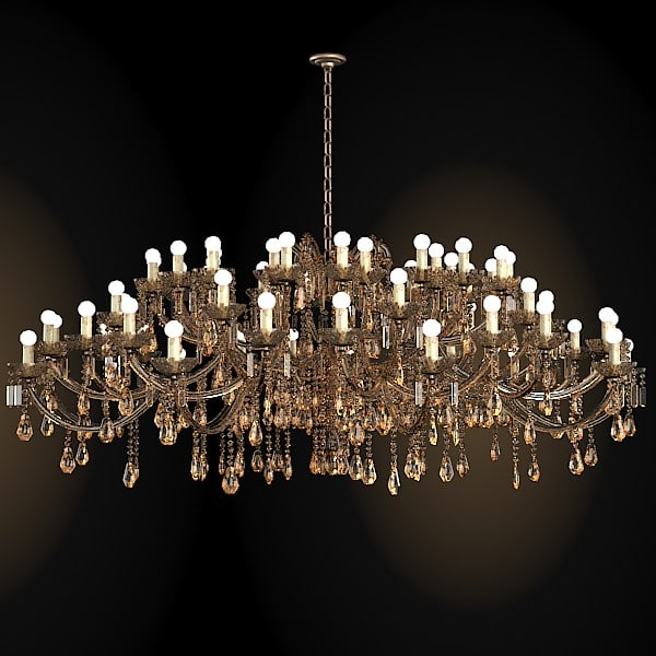 classic crystal chandelier 3d 3ds