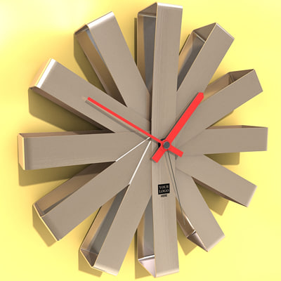 clock wall wallclock 3d max