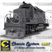 3d model diesel locomotive chessie 6627