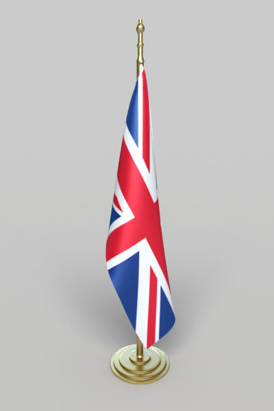 realistic office england flag max