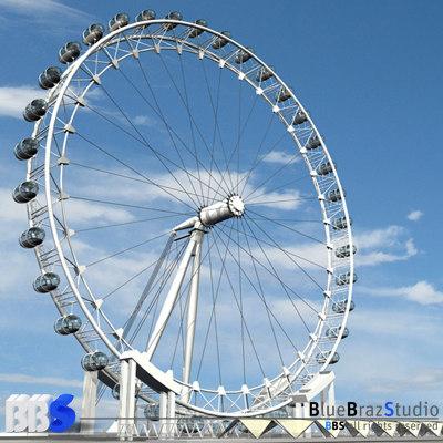 london eye wheel 3d model