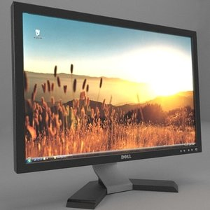 3d model of dell monitor