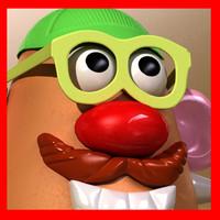 mister potato toy 3d model
