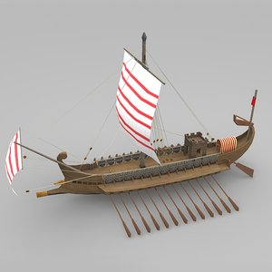 3ds max ship roman galley