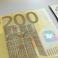 200 euros banknote - 3d model