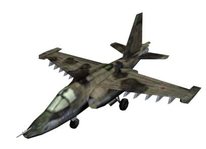 3ds max russian su-25 battle aircraft