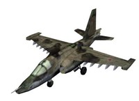 Russian SU-25 Battle Aircraft