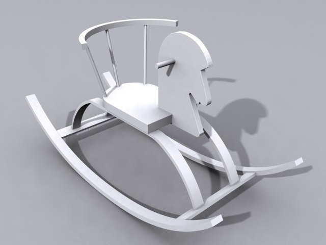 3d model rocking horse toy