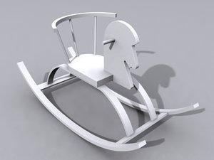 3d model rocking horse toy