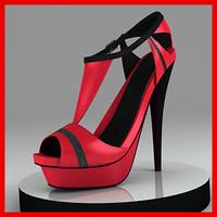 3d model heel shoe