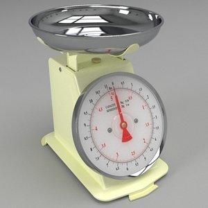 kitchen scales 3d 3ds