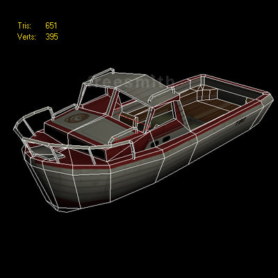 yacht ship boat 3ds