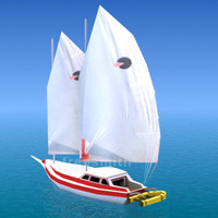 ship yacht sailboat 3d model