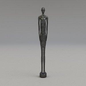 statuette statue 3d model