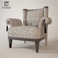 armchair colombo stile 3d model