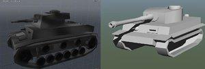 3dsmax german world war 2 tank