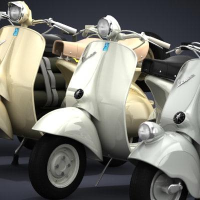 3d model classic vespa