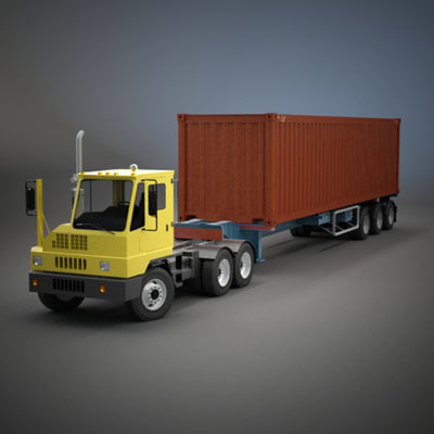 ottawa yard truck shipping container 3d model