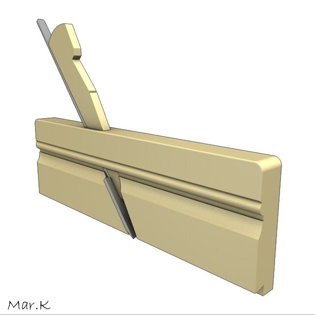 hand plane svlakovnik 3d model