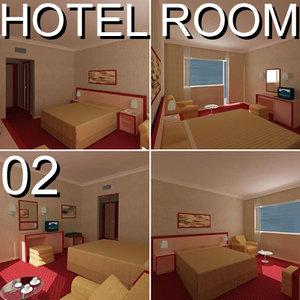 hotel guest room 02 3d c4d
