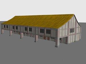 house medieval buildings 3d model