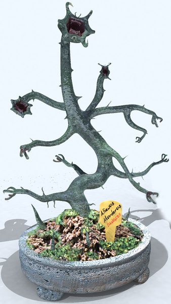 3d alien bonsai